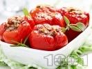 Рецепта Пълнени червени камби с ориз и кайма на фурна